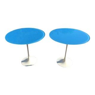Mid -Century Modern Saarinen-Style Tulip Side Tables- A Pair For Sale