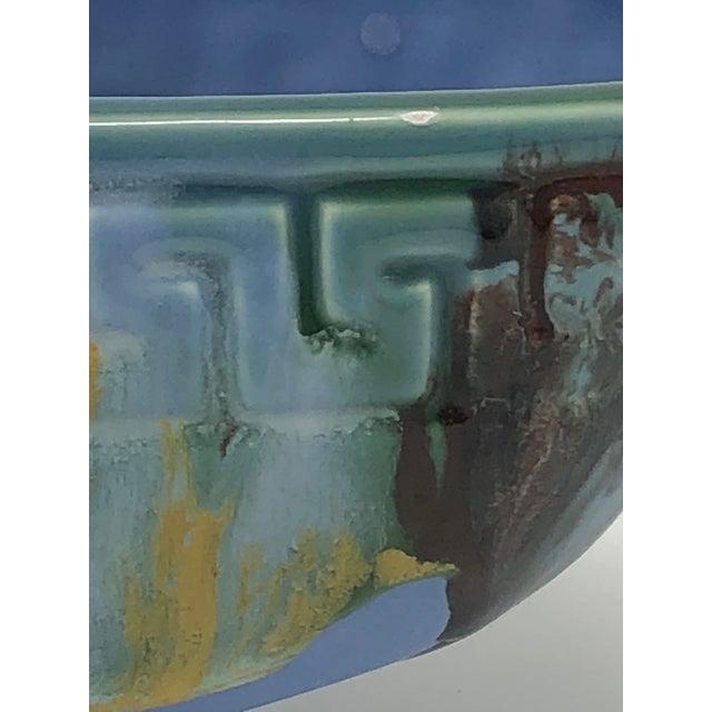 Mid-Century McCoy Greek Key Drip Glaze Window Planter For Sale In Seattle - Image 6 of 8
