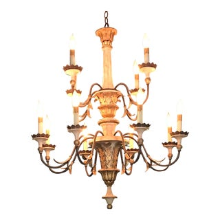 Currey Co. Adara Wrought Iron Chandelier For Sale