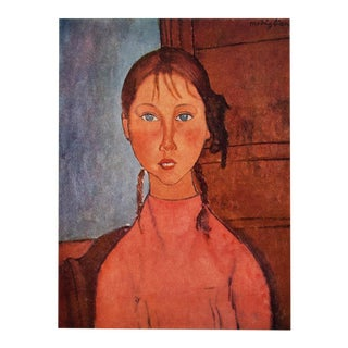 1958 A. Modigliani, Girl With Braids First Edition Lithograph For Sale