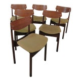 Image of Danish Modern Style Dining Chairs - Set of 6 For Sale
