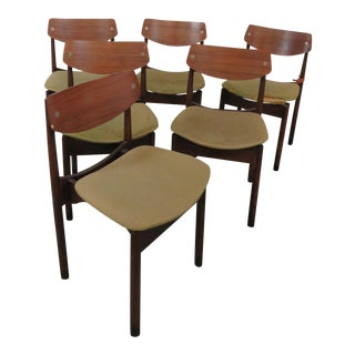 Danish Modern Style Dining Chairs - Set of 6 For Sale