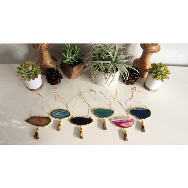 Modern Boho Agate Holiday Ornaments - Set of 6 - Image 3 of 10