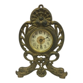 Antique Metal Clock For Sale