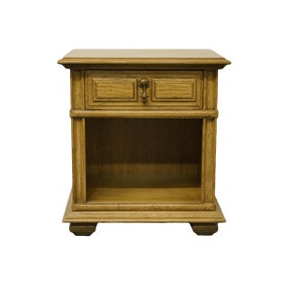 """Thomasville Furniture Casa Linda Collection Mediterranean Style 22"""" Open Cabinet Nightstand - 597-12 For Sale"""
