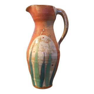 Hand Thrown Rustic Pottery Pitcher