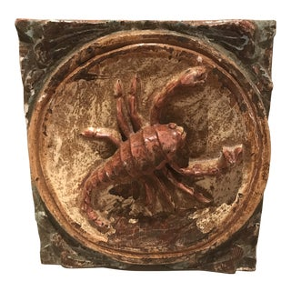 Mid Century Hand Carved Zodiac Wall Hanging For Sale