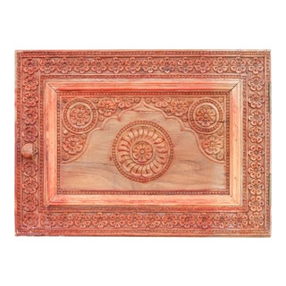 Chinar Kashmir Carved Panel For Sale
