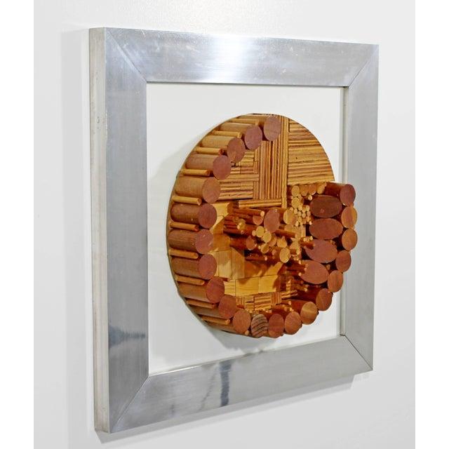Mid Century Modern Greg Copeland Dimensional Wood Wall Art Sculpture