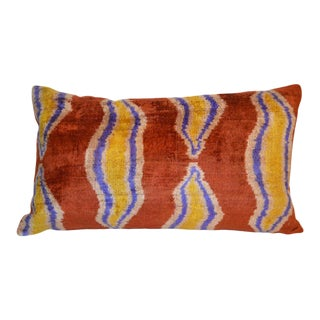 Duna Silk Velvet Ikat Pillow