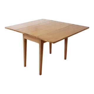 Early Edward Wormley for Dunbar Drop Leaf Dining Table For Sale
