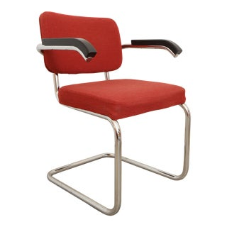 1950s Vintage Marcel Breuer Cantilever Accent Chair by Thonet For Sale