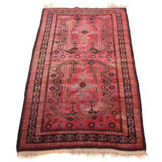 Distressed Antique Rug - 4' x 6' 9""