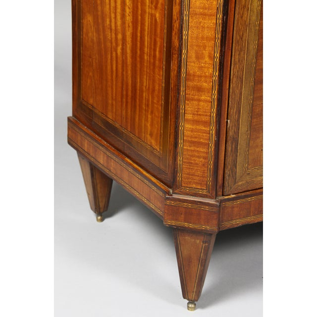 Dutch Neoclassical Satinwood and Japanned Cabinet For Sale - Image 9 of 13