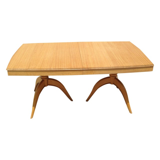 Brown Saltman Gilbert Rohde Dining Table For Sale