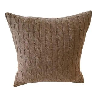 Ralph Lauren Cashmere Cable Knit Pillow