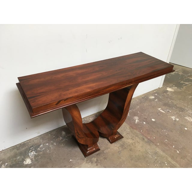 Art Deco Art Deco Console in Rosewood For Sale - Image 3 of 12