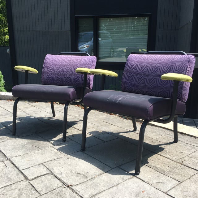 1980s 1990s Memphis Modern Style Club Chairs - a Pair For Sale - Image 12 of 13