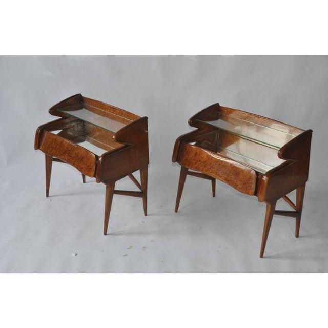 Italian Pair of 1950s Italian Nightstands For Sale - Image 3 of 10