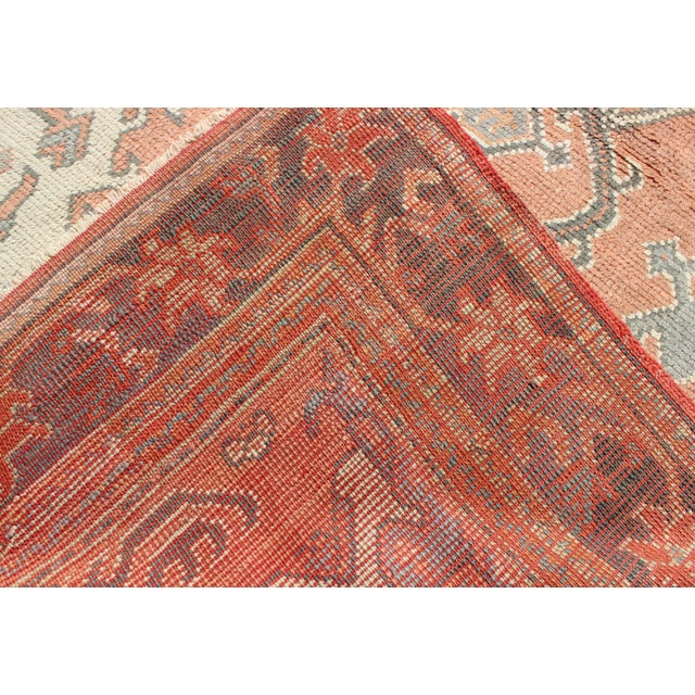 Textile Keivan Woven Arts, F-0912, Early 20th Century Antique Turkish Oushak Rug - 5′3″ × 7′10″ For Sale - Image 7 of 8
