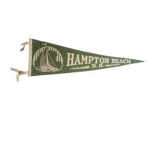 Vintage Hampton Beach n.h. Felt Flag Pennant