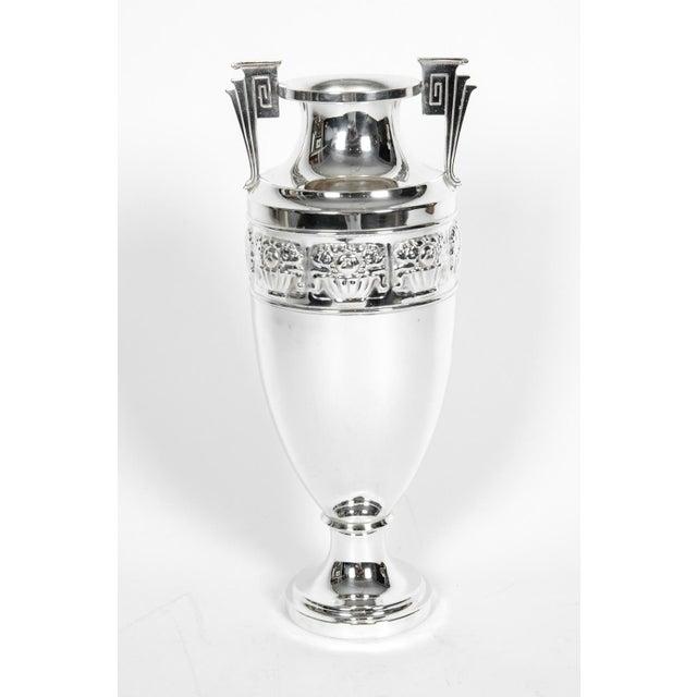 Vintage Art Deco Silver Plate Piece / Vase For Sale - Image 4 of 9
