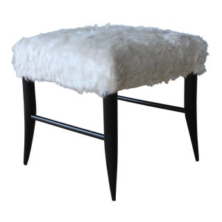Croft Stool in Cowhide by Hollywood at Home For Sale