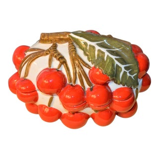 1970s Italian Mancioli Trompe l'Oeil Cherry Box For Sale