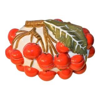 1970s Italian Mancioli Trompe l'Oeil Cherry Box For Sale