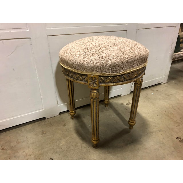 Vintage french round bench.