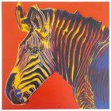 "Image of Andy Warhol Estate Rare Vintage 1992 Endangered Species Collector's Pop Art Lithograph Print "" Grevy's Zebra "" 1983 For Sale"