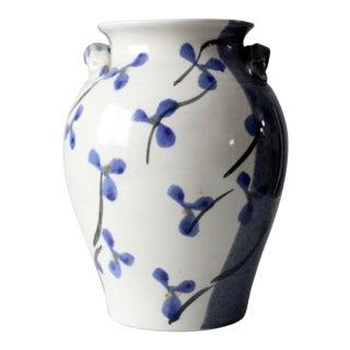Vintage Kent Follette Studio Pottery Vase For Sale
