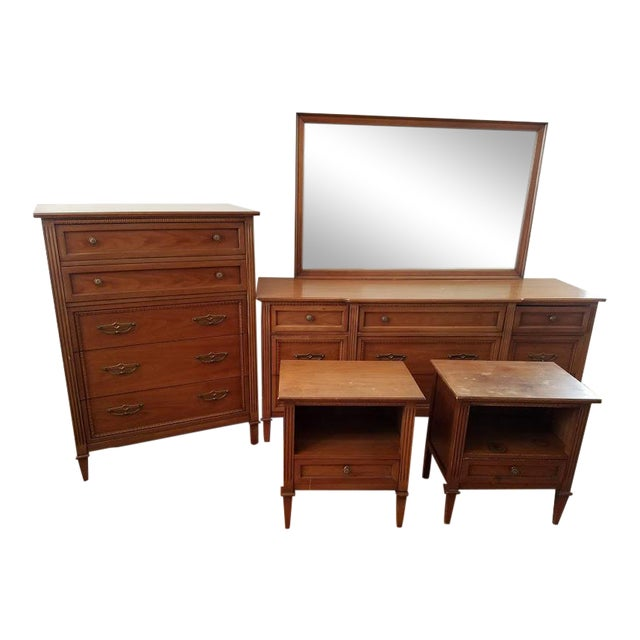 "Drexel Mid-Century ""Anniversary"" Bedroom Set For Sale"