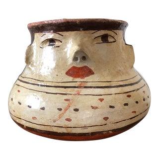 Vintage Shipibo Pottery Effigy Jar