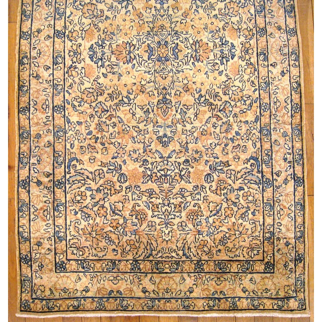 Islamic Early 20th Century Antique Persian Kerman Oriental Rug - 3′ × 5′3″ For Sale - Image 3 of 5
