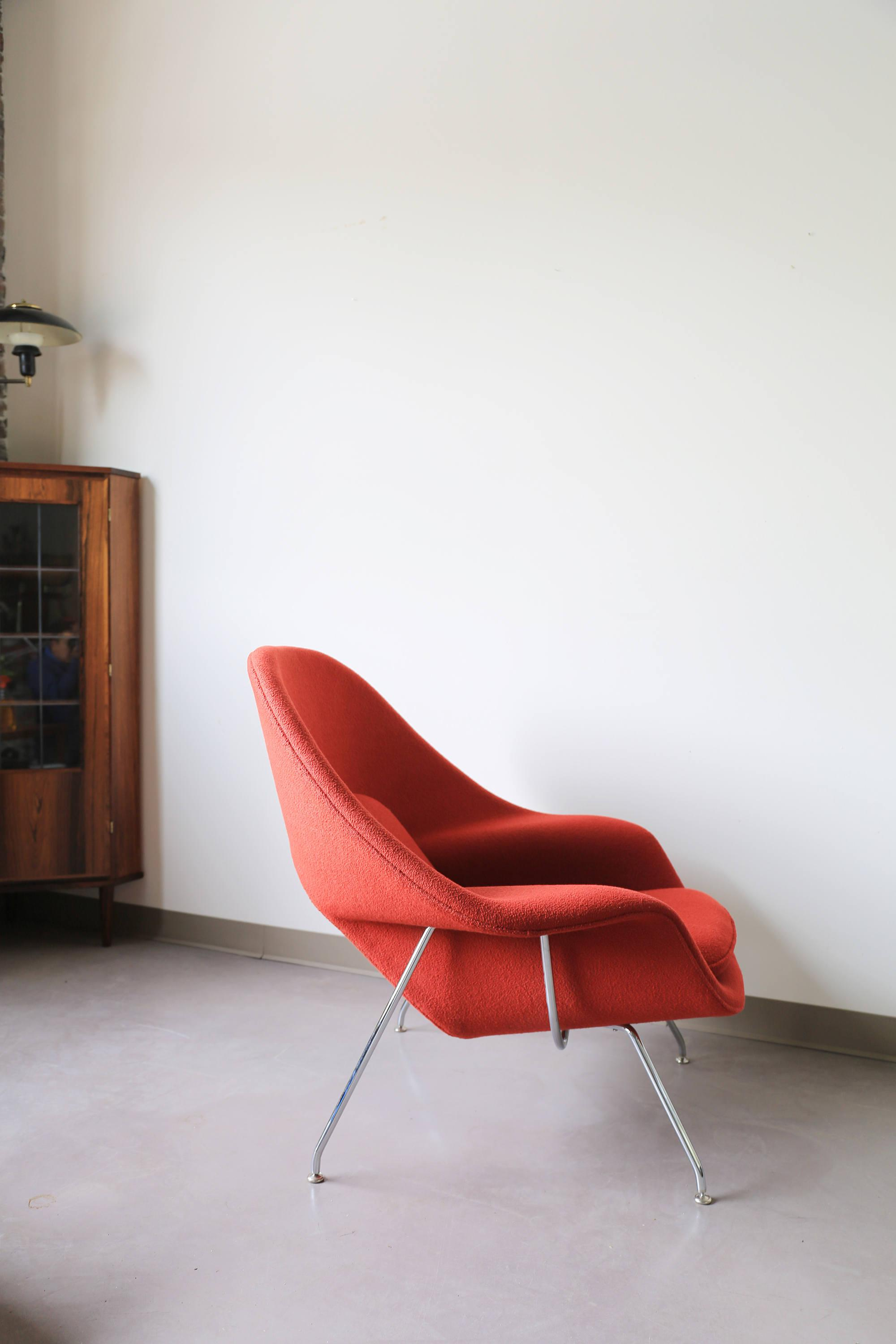 Cool Eero Saarinen For Knoll Womb Chair Image Of With Chaise