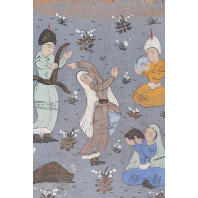 Framed Double-Sided Indo-Persian Gouache Miniature Manuscript Page For Sale - Image 4 of 11