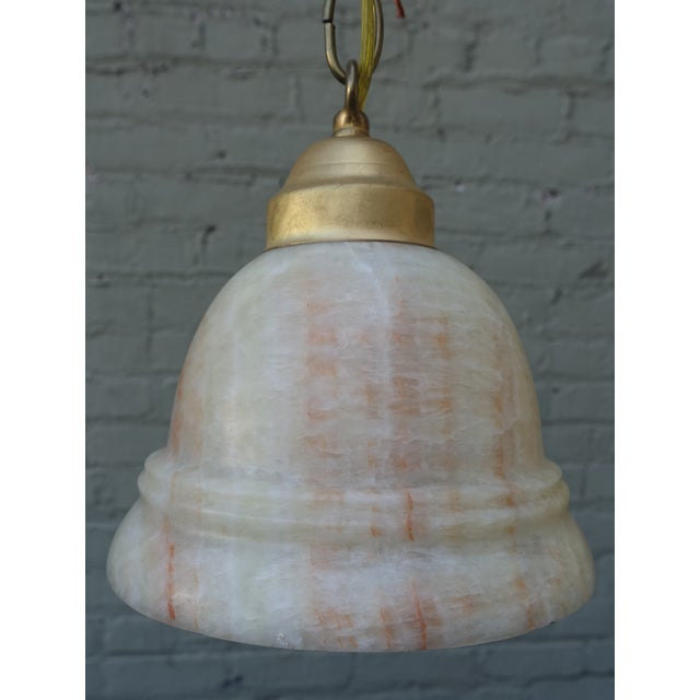 Alabaster Pendant Light Fixtures - 3 - Image 3 of 7