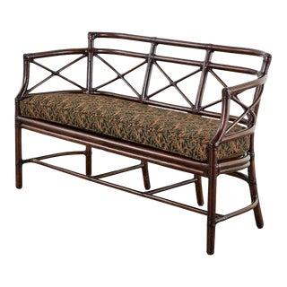 McGuire Bamboo Rattan Organic Modern Gondola Settee Bench For Sale
