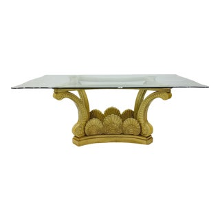 Vintage Hollywood Regency Clam Shell Table For Sale