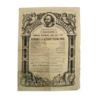 1873 McVicker's Theatre Playbill For Sale