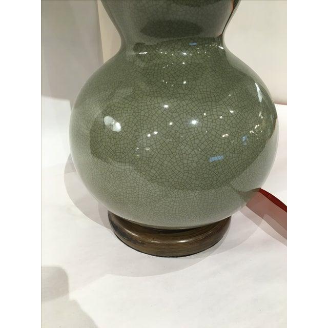 Wildwood Green Crackle Glazed Lamp - Image 4 of 4
