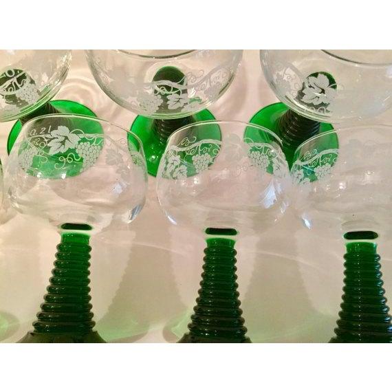 Crystal Roemer Rhine Wine Glasses - Set of 7 - Image 4 of 6