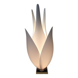 Rougier Sculptural Acrylic Canadian Tulip Lamp For Sale