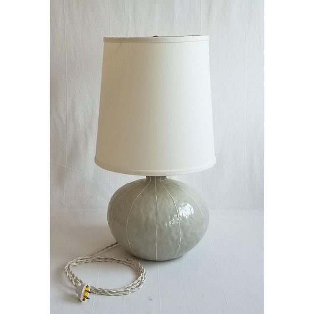 Modern kRI kRI Studio Gray Ceramic Gourd Lamp For Sale - Image 4 of 4