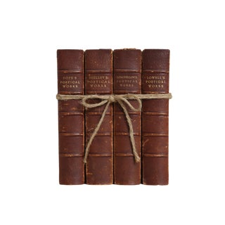 Vintage Leather Poetry Gift Set (S/4) For Sale