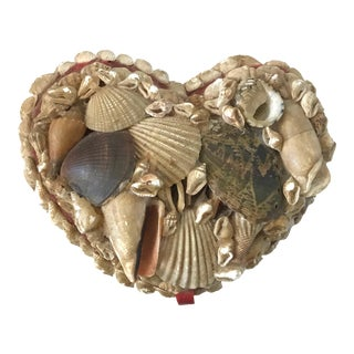 Mid 20th Century French Sailor's Valentine Shell Box For Sale
