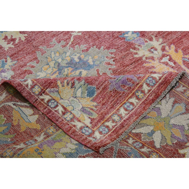 """Vintage Turkish Hand Woven Silky Soft Wool Oushak Rug,10'x13'4"""" For Sale In New York - Image 6 of 7"""