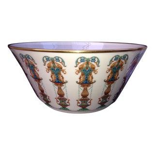 Lenox Lido Salad Bowl Mid Century Italianate Turquoise Gold Pattern For Sale