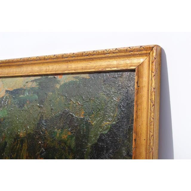 Vintage Framed Landscape Painting - Image 3 of 4